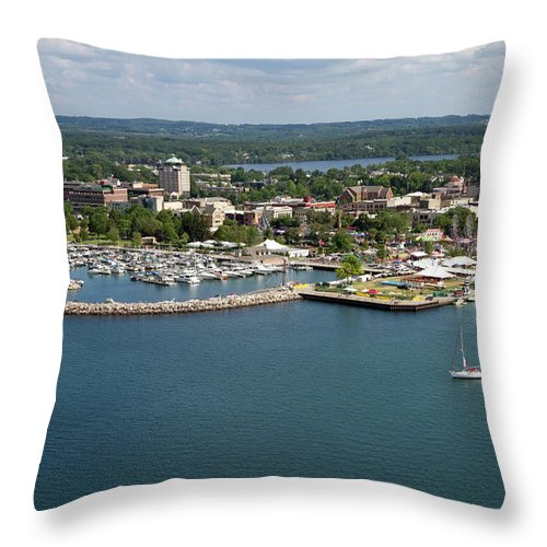 Lake Michigan Throw Pillow featuring the photograph Traverse City, Michigan by Ct757fan