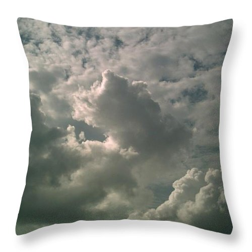 Trinity Throw Pillow - Throw Pillow with image of amazing clouds is available for purchase!