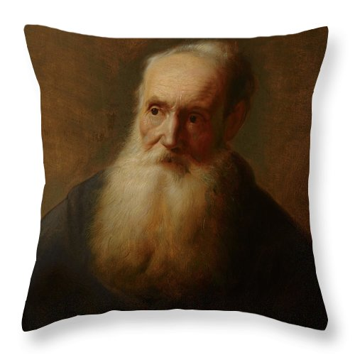 Tronie Of An Old Man Throw Pillow For Sale By Jan The Elder Lievens