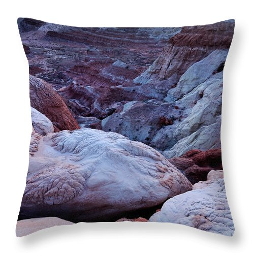 Scenics Throw Pillow featuring the photograph Twilight Landscape At Paria Rimrocks by Rezus