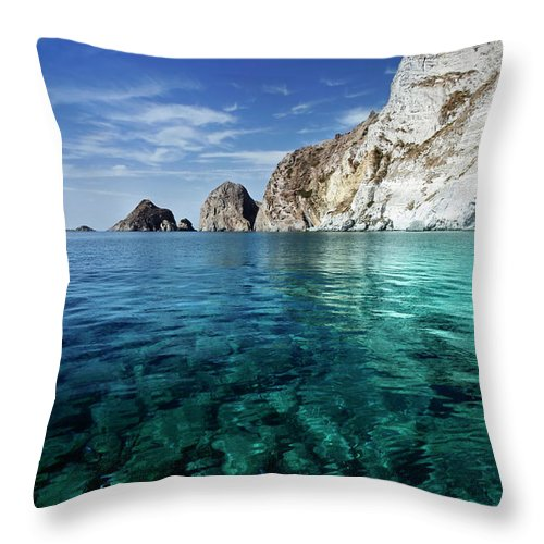 Scenics Throw Pillow featuring the photograph Typical Mediterranean Sea In Italy by Piola666