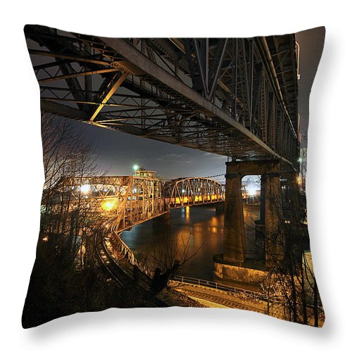 Built Structure Throw Pillow featuring the photograph Underbelly by Kevin Van Der Leek Photography