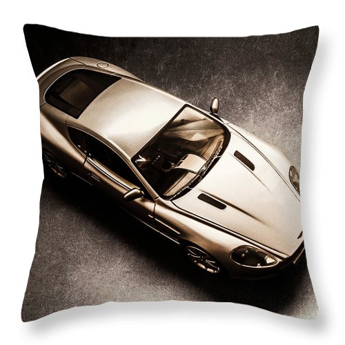 Aston Martin Throw Pillow featuring the photograph Underground Racer by Jorgo Photography - Wall Art Gallery