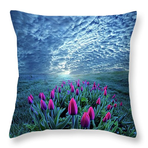 Life Throw Pillow featuring the photograph Unequal To Our Gifts by Phil Koch