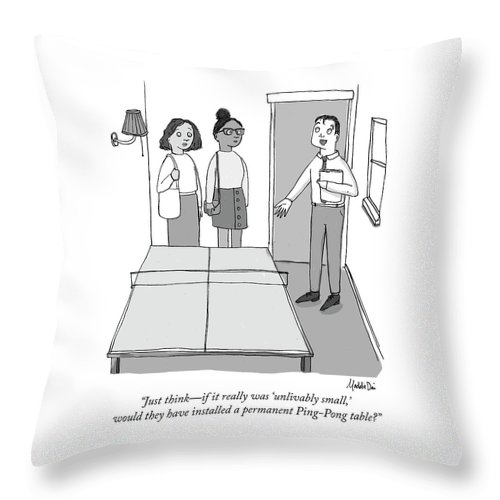 Unlivably Small Throw Pillow