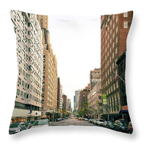 Outdoors Throw Pillow featuring the photograph Upper East Side, New York City by William Andrew