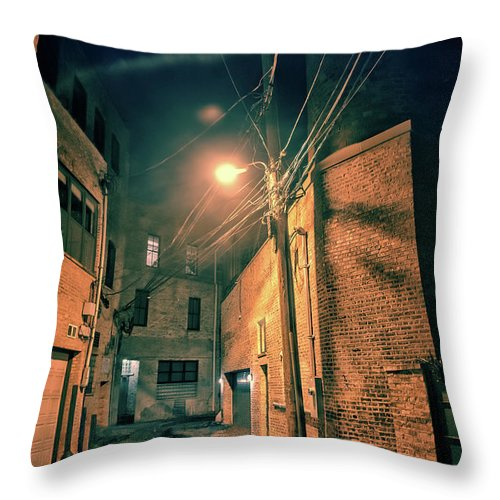Alley Throw Pillow featuring the photograph Urban Castle by Bruno Passigatti