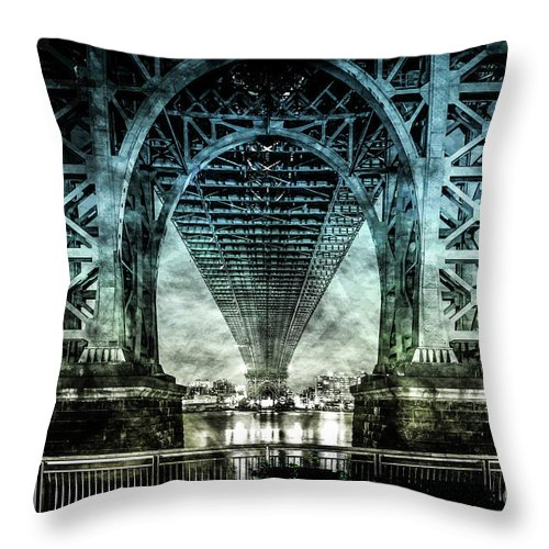 American Throw Pillow featuring the digital art Urban Grunge Collection Set - 06 by Az Jackson