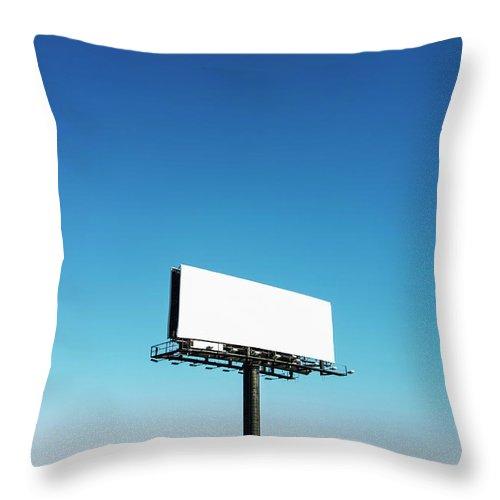 North Carolina Throw Pillow featuring the photograph Usa, North Carolina, Billboard Under by Tetra Images
