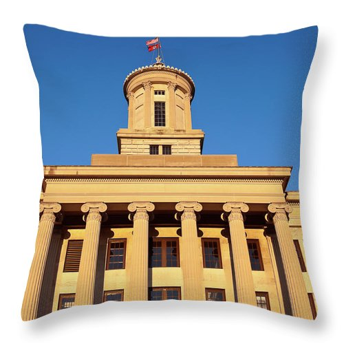 Clear Sky Throw Pillow featuring the photograph Usa, Tennessee, Nashville, State by Henryk Sadura