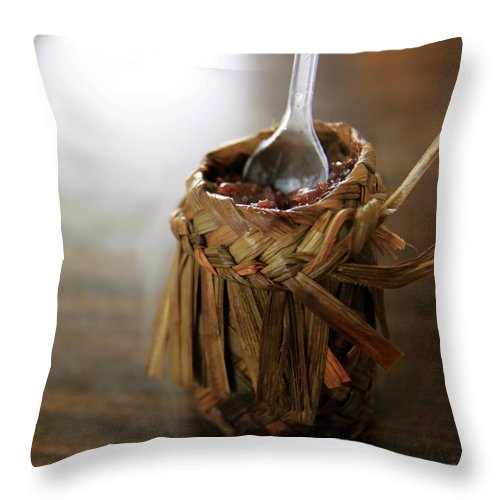 Chinese Culture Throw Pillow featuring the photograph Vanilla Rice by 100