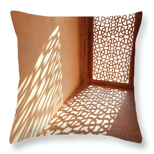 Shadow Throw Pillow featuring the photograph View Of Sun Coming Through Window by Grant Faint