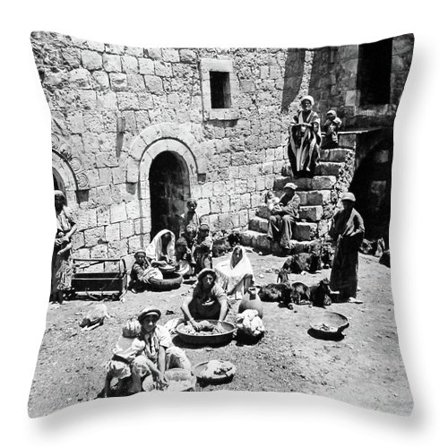 Village Throw Pillow featuring the photograph Village Of Cana by Munir Alawi