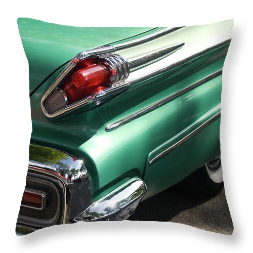 Cool Attitude Throw Pillow featuring the photograph Vintage Tail Fin by Sstop