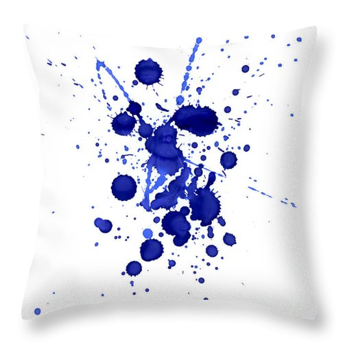 Watercolor Painting Throw Pillow featuring the photograph Violet Splashes by Alenchi