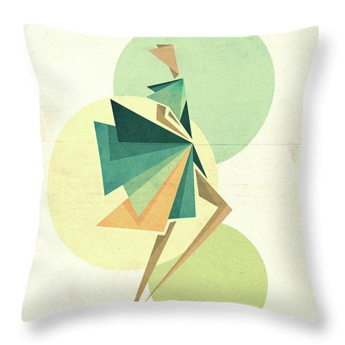 Digital Throw Pillow featuring the digital art Walk The Walk by Vess DSign