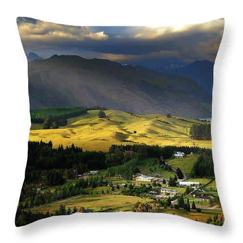 Scenics Throw Pillow featuring the photograph Wanaka, New Zealand by Atomiczen