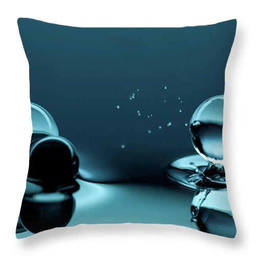 Atlanta Throw Pillow featuring the photograph Water Balls by Alex Koloskov Photography