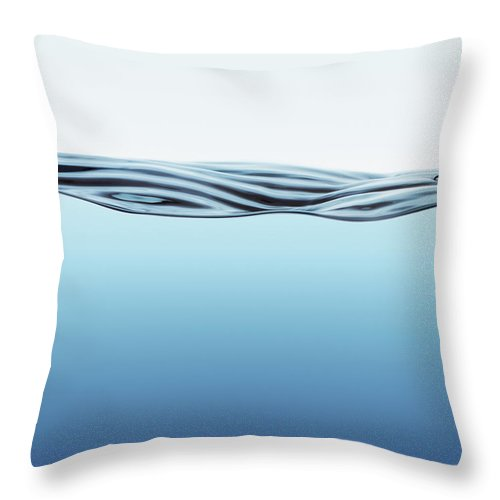 Spray Throw Pillow featuring the photograph Water Surface With Big Wave by Kedsanee