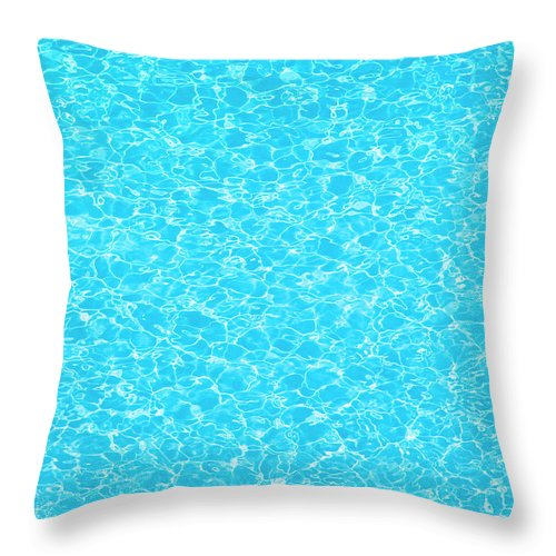 Cool Attitude Throw Pillow featuring the photograph Water Wave Pattern Of Swimming Pool by Anddraw