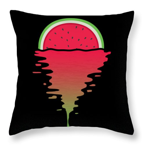 Watermelon Throw Pillow featuring the digital art Watermelon Sunset by Filip Schpindel