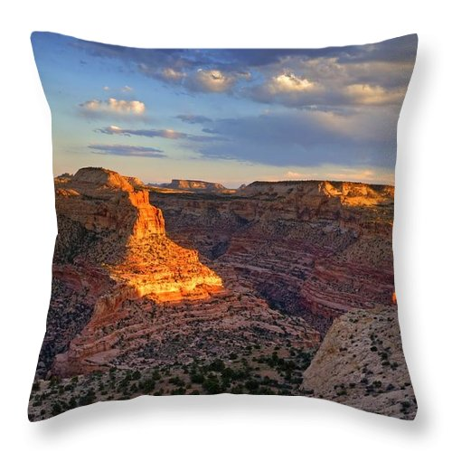 Scenics Throw Pillow featuring the photograph Wedge Overlook by Yvonne Baur