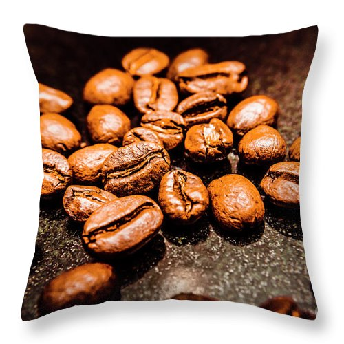 Coffee Beans Throw Pillow featuring the photograph Well Rounded by Jorgo Photography - Wall Art Gallery