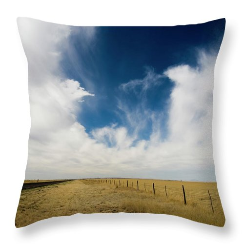 Scenics Throw Pillow featuring the photograph West Texas Grasslands United States Of by Tier Images