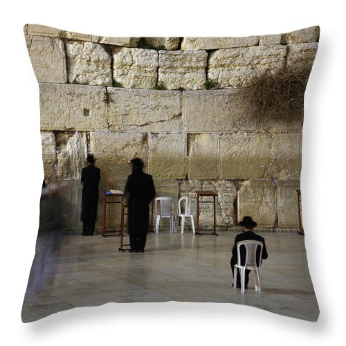 West Bank Throw Pillow featuring the photograph Western Wall by Simon Podgorsek