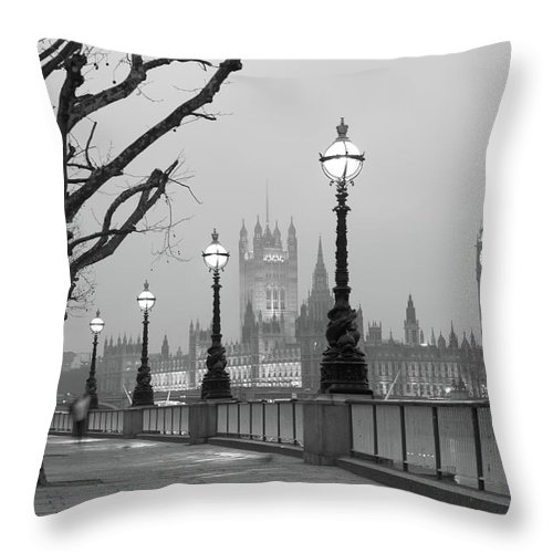 Scenics Throw Pillow featuring the photograph Westminster At Dawn, London by Gp232