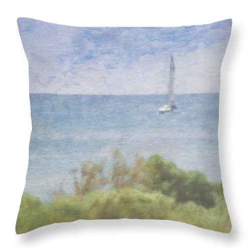 Tranquility Throw Pillow featuring the photograph When Your Boat Comes In by Craig Hewson