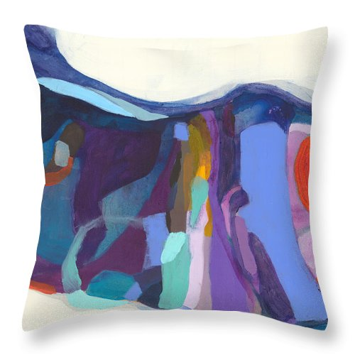 Abstract Throw Pillow featuring the painting With Grace by Claire Desjardins