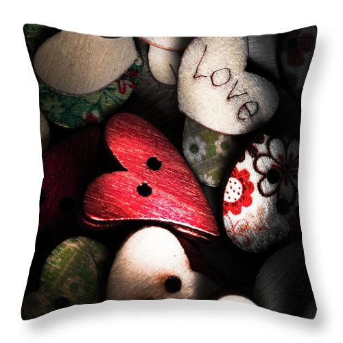 Romantic Throw Pillow featuring the photograph With Sentiment In The Sewing Box by Jorgo Photography - Wall Art Gallery