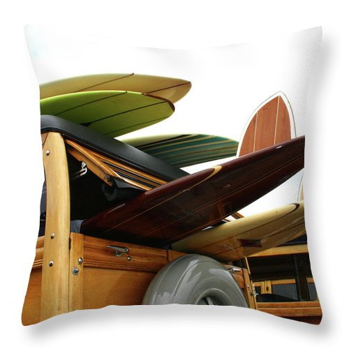 Adolescence Throw Pillow featuring the photograph Woodies On The Wharf by Mattabbe