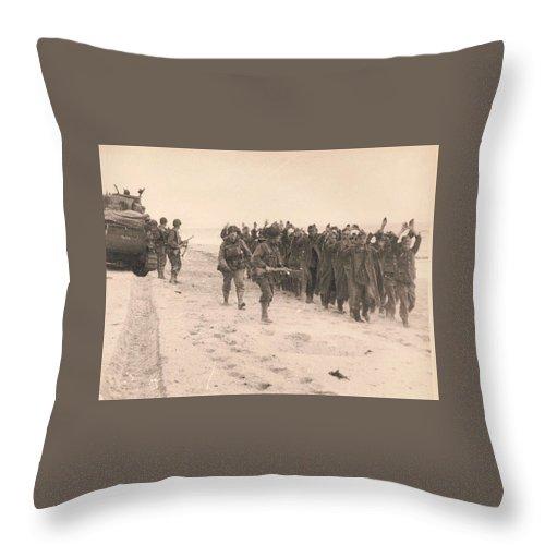 World War II Prisoner of War March Throw Pillow for Sale ...