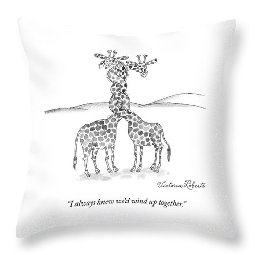 Wound Up Together Throw Pillow