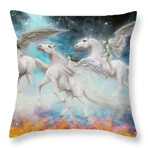Angel Throw Pillow featuring the digital art Wrinkles In Time by Betsy Knapp