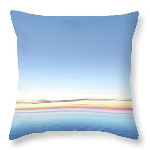 Lake Michigan Throw Pillow featuring the photograph Xxl Serene Twilight Lake by Sharply done