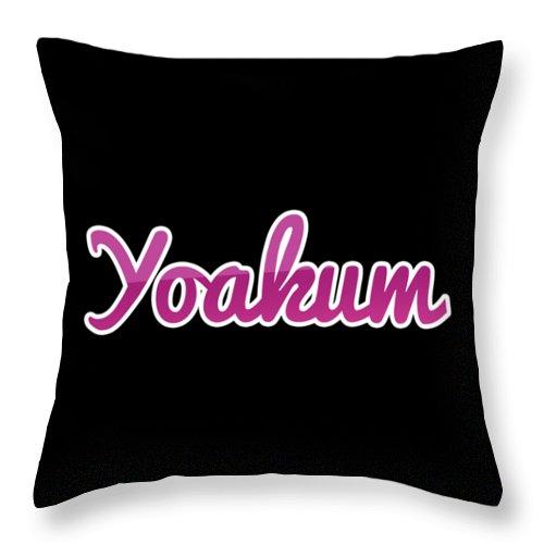 Yoakum Throw Pillow featuring the digital art Yoakum #yoakum by TintoDesigns