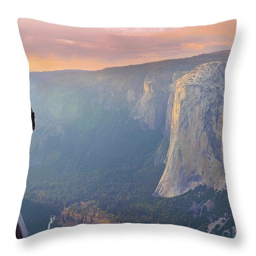 Yosemite National Park El Capitan Throw Pillow For Sale By Michele Falzone