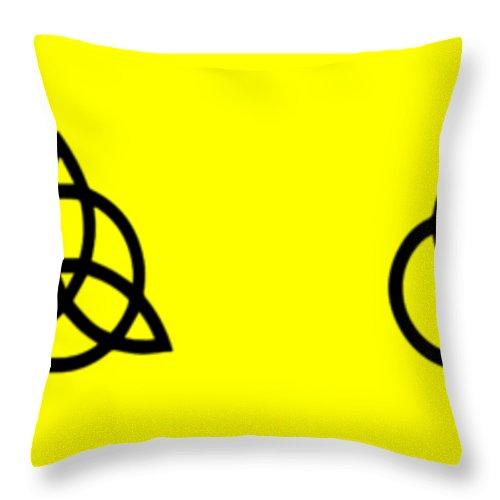 Led Zeppelin Throw Pillow featuring the digital art Z O S O Led Zeppelin Logo For T-shirt by Daniel Hagerman