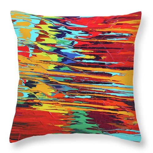 Fusionart Throw Pillow featuring the painting Zap by Ralph White