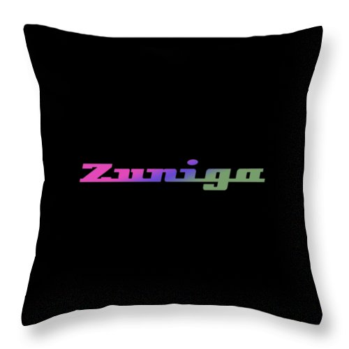Zuniga Throw Pillow featuring the digital art Zuniga #zuniga by TintoDesigns