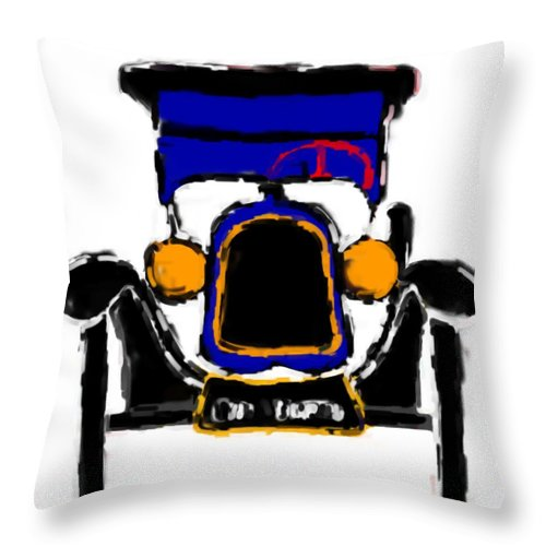 F1 Throw Pillow featuring the mixed media F1 by Asbjorn Lonvig