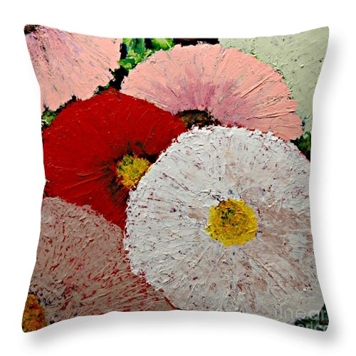 Landscape Throw Pillow featuring the painting From the Garden by Allan P Friedlander