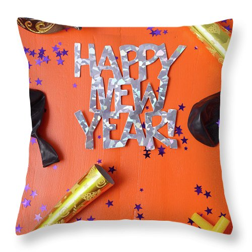 Happy New Year Party Decorations Throw Pillow for Sale by ...