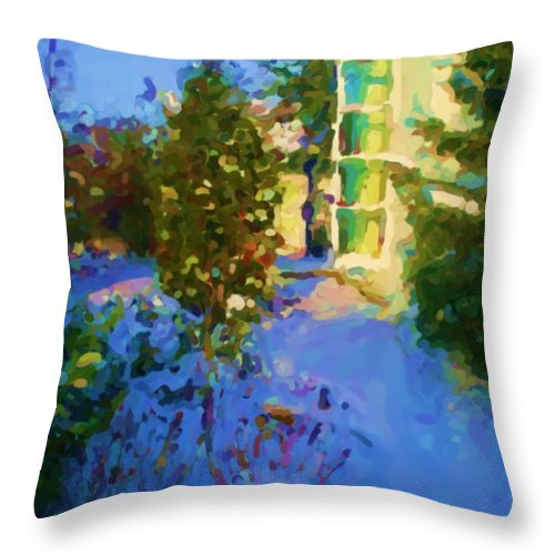Hedensted Throw Pillow featuring the mixed media Hedensted by Asbjorn Lonvig