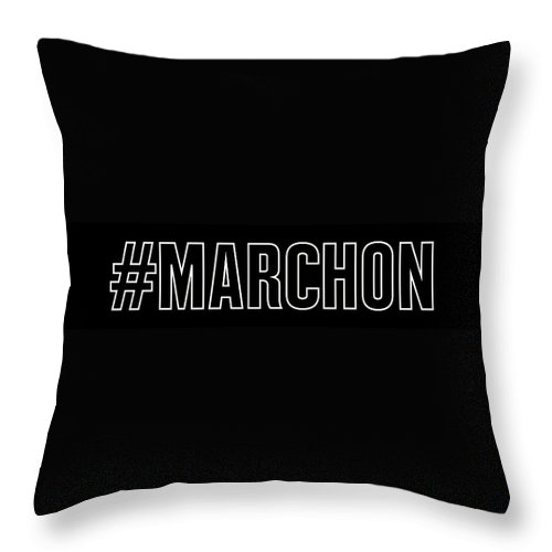 Mlk Throw Pillow featuring the digital art March On by Time