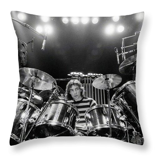 Rush Throw Pillow featuring the digital art Rush Neil Peart Poster by Trindira A