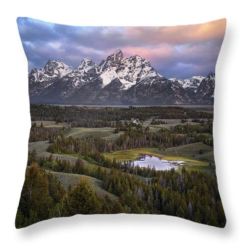 Throw Pillow featuring the photograph Teton Overlook by Ryan Smith